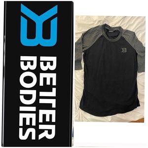 Better bodies baseball 3 quarter sleeve Tshirt